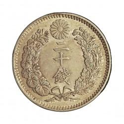 Japon 20 Sen. 1899. (Año 32). AG. 5,39gr. Ley:0,800. Ø22mm. EBC-/EBC. KM. .24 /Tipo II.