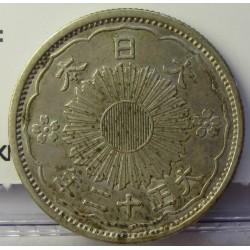 Japon 50 Sen. 1922. 1926. AG. 4,95gr. Ley:0,720. Ø23mm. MBC+/EBC-. KM. 46