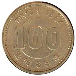 Japon 100 Yen. 1964. AG. 4,8gr. Ley:0,600. (Año 39-Olimpiada). Ø22mm. SC-/SC. KM. 79