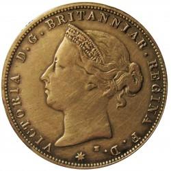Jersey 0,041 Shilling. 1877. (1/24º de Shilling). H-(Heaton). AE. 4,7gr. (Victoria). Ø25mm. MBC/MBC+. (Limpiada). KM. 7