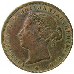 Jersey 0,041 Shilling. 1888. (1/24º de Shilling). H-(Heaton). AE. 4,7gr. (Victoria). Ø25mm. MBC/MBC+. (Patina oscura). KM. 7