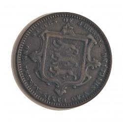 Jersey 0,038 Shilling. 1971. (1/26 de Shilling). AE. 4,7gr. (Victoria). Ø24mm. MBC. (Patina oscura). KM. 4