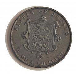 Jersey 0,076 Shilling. 1861. (1/13º de Shilling). CU. 17,5gr. (Victoria). Ø34m/m. MBC. KM. 3