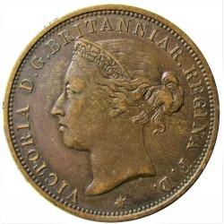 Jersey 0,083 Shilling. 1881. (1/12º de Shilling). AE. 9,5gr. (Victoria). Ø30,5m/m. MBC/MBC+. KM. 8