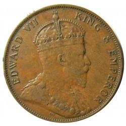Jersey 0,083 Shilling. 1909. (1/12º de Shilling). AE. 9,5gr. (George V). Ø30mm. MBC. KM. 10