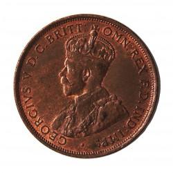 Jersey 0,083 Shilling. 1913. (1/12º de Shilling). AE. 9,37gr. (George V). Ø30mm. SC-/SC. (Casi todo su tono original). RARO/A.