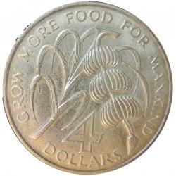 Kitts y Nevis.-San 4 Dolar. 1970. NI. 28,11gr. Anv: St.Cristopher-Nevis-Anguilla. Desarrollo del Caribe. (Lucha contra el hambr