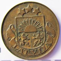 Latvia 1 Santim/i. 1924. AE. 1,65gr. Ø17mm. SC-/SC. (Patina). KM. 1
