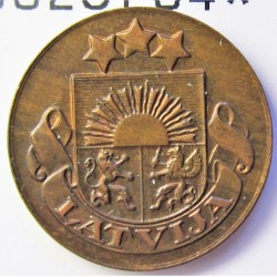 Latvia 1 Santim/i. 1928. AE. 1,65gr. Ø17mm. SC-/SC. (Lev.patina). KM. 1