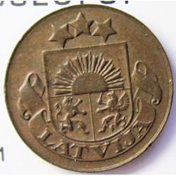 Latvia 1 Santim/i. 1935. AE. 1,65gr. Ø17mm. EBC. (Patina). KM. 1