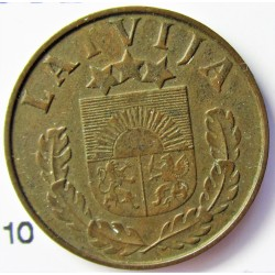 Latvia 1 Santim/i. 1938. AE. 1,65gr. Ø17mm. EBC/EBC+. (Patina). KM. 10