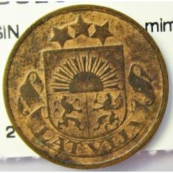 Latvia 2 Santim/i. 1922. AE. 2gr. (SIN nombre de la mint). Ø19,5mm. MBC-. KM. 2