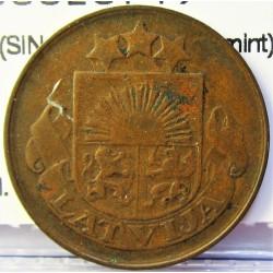Latvia 5 Santim/i. 1922. AE. 3gr. (SIN nombre de la mint). Ø22mm. MBC-/MBC. KM. 3