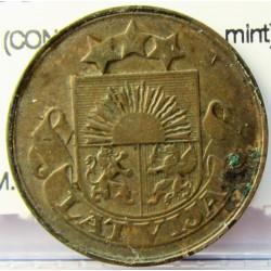 Latvia 5 Santim/i. 1922. AE. 3gr. (CON nonbre de la mint). Ø22mm. MBC-/MBC. KM. 3
