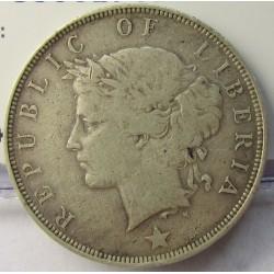 Liberia 50 Cent. 1906. Heaton. AG. 11,6gr. Ley:0,925. Ø30mm. MBC-/MBC. KM. 9