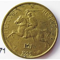Lituania 1  Cent. 1925. AL/AE. 1,6gr. Ø16mm. EBC+/SC-. (Nueva con lev.puntitos de oxid.). MUY ESCASO/A. en esta conservacion. KM