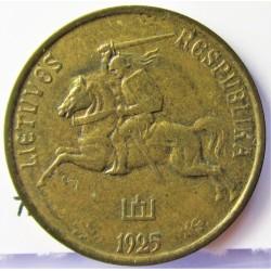 Lituania 5  Cent. 1925. AL/AE. 2,1gr. Ø19mm. EBC-/EBC. MUY ESCASO/A. en esta conservacion. KM. 72