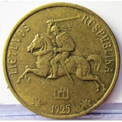 Lituania 10  Cent. 1925. AL/AE. 3gr. Ø21mm. EBC-/EBC. MUY ESCASO/A. KM. 73