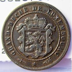 Luxemburgo 2,5  Cts.  1901. Utrech. (Barth). AE. 2,5gr. Ø21mm. EBC+. (Patina). KM. 21