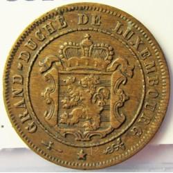 Luxemburgo 2,5  Cts.  1908. Utrech. AE. 2,5gr. Ø21mm. EBC+. (Patina). KM. 21