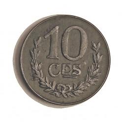 Luxemburgo 10  Cts.  1918. FE. 3,2gr. Ø19,5mm. SC-/SC. MUY ESCASO/A. en esta conservacion. KM. 31