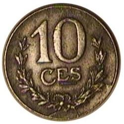 Luxemburgo 10  Cts.  1919. IRON. 3,29gr. Ø19,5mm. EBC. KM. 31