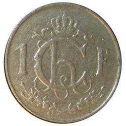 Luxemburgo 1  Francos. 1953. NI. 4,02gr. (Trabajo en el campo). Ø21mm. MBC. KM. 46.2