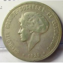 Luxemburgo 10  Francos. 1929. AG. 13,5gr. Ley:0,750. Ø30mm. MBC/MBC+. KM. 39