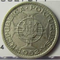 Macao 1 Patacas. 1952. AG. 3gr. Ley:0,720. Ø19mm. EBC-. KM. 4