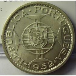 Macao 5 Patacas. 1952. AG. 15gr. Ley:0,720. Ø31mm. SC. (Tono original). KM. 5