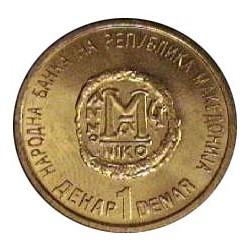 Macedonia 1 Dinar. 2000. LA. 5,1gr. Ø23mm. SC