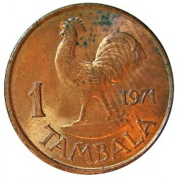 Malawi 1 Tambala. 1971. AE. 1,77gr. (Dr.Hastings y Gallo). Ø17mm. SC. (Lev.manchita). KM. 7.1