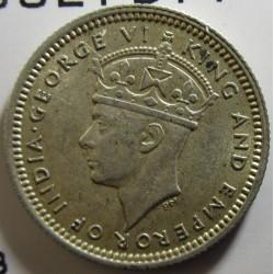 Malaya 5 Cent. 1941. AG. 1,36gr. Ley:0,750. Ø15mm. SC-/SC. KM. 3
