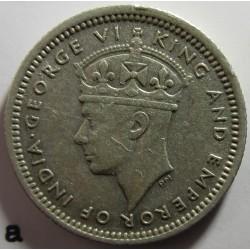 Malaya 5 Cent. 1945. AG. 1,36gr. Ley:0,500. Ø15mm. EBC+/SC-. KM. 3 a