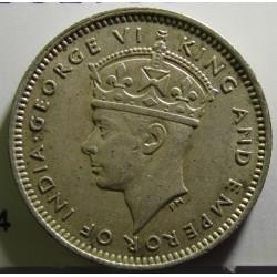 Malaya 10 Cent. 1939. AG. 2,71gr. Ley:0,750. Ø18mm. SC-. KM. 4