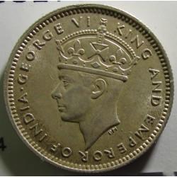 Malaya 10 Cent. 1941. AG. 2,71gr. Ley:0,750. Ø18mm. SC-/SC. (Tono original). KM. 4