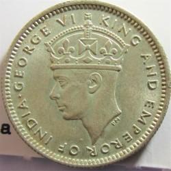 Malaya 10 Cent. 1943. AG. 2,71gr. Ley:0,500. Ø18mm. SC-/SC. KM. 4 a