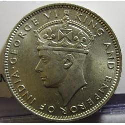 Malaya 20 Cent. 1943. AG. 5,43gr. Ley:0,500. Ø23mm. SC. (Tono original). KM. 5 a