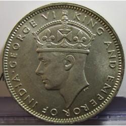 Malaya 20 Cent. 1945. AG. 5,43gr. Ley:0,500. Ø23mm. SC-/SC. KM. 5 a