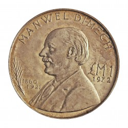 Malta 1 Liri. 1972. AG. 10gr. Ley:0,987. (M.Dimech). Ø32mm. SC. KM. 13
