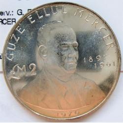 Malta 2 Libra/Pound. 1976. AG. 10gr. Ley:0,987. (G.E.Mercer). Ø32mm. SC. KM. 40