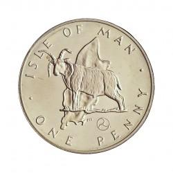 Man.-Isla de 1 Penny. 1979. AG. 3,89gr. Ley:0,925. (Carnero). Ø20,3mm. PRF. KM. 33 a