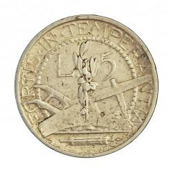 Marino.-San 5 Lira. 1937. R. AG. 5gr. Ley:0,835. Ø23mm. MBC. KM. 9