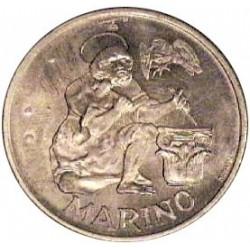 Marino.-San 500 Lira. 1975. AG. 11gr. Ley:0,835. (En cartera oficial). (Anciano picapedrero/cantero). Ø29mm. SC. KM. 47