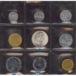 Marino.-San Serie. 1979. AG+NI+CU. 11gr. Ley:0,835. (Las 500 liras en plata). (Serie de 9 Valores-(De 1a 500 Liras). SC. KM. MS1