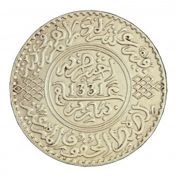 Marruecos 10 Francos. 1913. (AH.1331). Pa-(Paris). AG. 25gr. Ley:0,900. (10 Dirhams). Ø28mm. EBC/EBC+. (Insig.marquitas). KM. 3