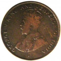 Mauritus.-Isla 5 Cent. 1923. AE. 10gr. (George V). Ø28mm. MBC-/MBC. KM. 14