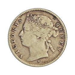 Mauritus.-Isla 20 Cent. 1877. H. AG. 2,332gr. Ley:0,800. (Victoria). Ø18mm. MBC/EBC. KM. 11.1