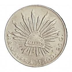 Mejico 8 Reales. 1893. Mejico. AM. AG. 27,07gr. Ley:0,903. Ø38mm. EBC/EBC+. KM. 377.10