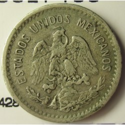 Mejico 10 Ctvo. 1906. Mejico. AG. 2,5gr. Ley:0,800. Ø18mm. MBC-. KM. 428